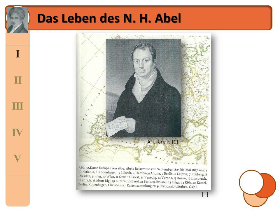 Das Leben des N. H. Abel I II III IV V A. L. Crelle [1] [1]
